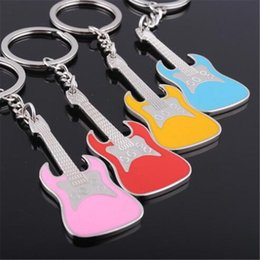 Trendy Silver Chains For Men Australia - WKOUD New Design Classic Guitar Keychain Car Key Chain Key Ring Musical Instruments silver pendant For Man Women Gift wholesale