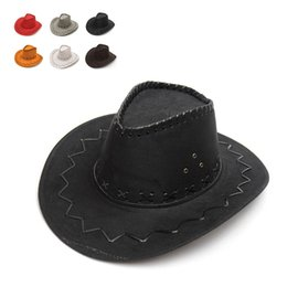 wild woman costume Canada - Unisex Cowgirl Cowboy Hat for Child Kids Boy Girl Wild West Fancy Party Costumes Casual Sun Hats Fashion Western Headwear Cap