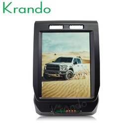 "Touch Screen Car Radio Navigation Australia - Krando Android 6.0 12.1"" Tesla Vertical touch screen car dvd GPS radio for FORD F150 2015-2017 navigation system multimedia player KD-FV201"