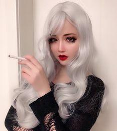 $enCountryForm.capitalKeyWord Australia - Wig Woman Black Long Straight Hair Atmosphere Fringe Lolita Lolita Chemical Fibre Headgear