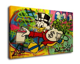 $enCountryForm.capitalKeyWord UK - Alec Monopoly Art Scrooge Duck In The Graffiti,Oil Painting Reproduction High Quality Giclee Print on Canvas Modern Home Art Decor