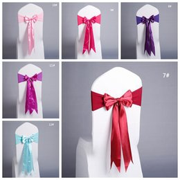 wholesale chair cover sash bows Australia - Elegant Bow Chair Cover Sashes Elastic Spandex Lycra Chair Back Covers Bands For Home Party Event Wedding Decoration Supplies DBC BH2671