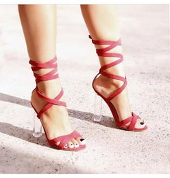 $enCountryForm.capitalKeyWord UK - Alluring2019 Chalaza Ring Foot Rome Crystal High With Sandals 660-35