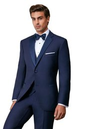 Images Fashionable Suits Australia - Fashionable Two Buttons Groomsmen Notch Lapel Groom Tuxedos Men Suits Wedding Prom Dinner Best Man Blazer(Jacket+Pants+Tie+Vest) 512