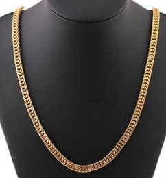6mm Cuban Chain Australia - Men's 6mm Gold Filled Snake Curb Cuban Chain Necklace Jewellery