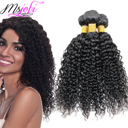 Queens curly weave online shopping - 9A kinky Curly Weave Brazilian Human Hair Unprocessed Virgin Hair Extensions Three Bundles Pics Queen Hair Double Weft From Msjoli