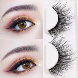 Making False Eyelashes Australia - YOKPN Charm Thick Curl 3D Lashes Makeup Fashion Black Exaggerated False Eyelashes Hand Made Messy Long Fake Eyelash 3 Pairs