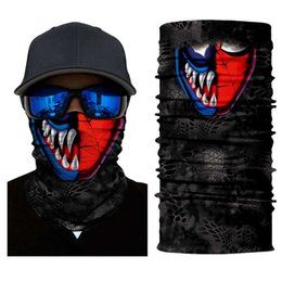 mask face shield Australia - Motorcycle Balaclava Cycling Ghost Mask Skull Face Durag Shield Biker Scarf Neck Cover