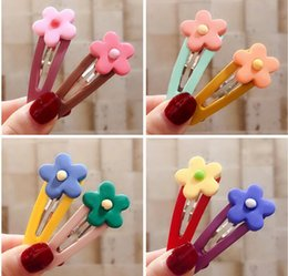 Child hair produCts online shopping - New Products Children Accessories Girl Hair Accessories Transparent Barrettes Flower Hairpin Multicolor Hair Claws Free DHL