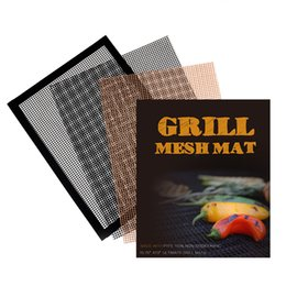 $enCountryForm.capitalKeyWord Australia - Non-Stick Heat Resistant Grill Mat BBQ Tool Vegetable fish Meat Shrimp Grill Basket | PFOA Free Grill Mesh Tray Easy to Clean BlacF