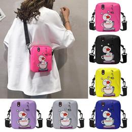 $enCountryForm.capitalKeyWord Australia - Canvas Shoulder Messenger Packs Cartoon Duck Print Women Crossbody Bags