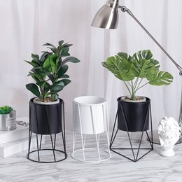 Coffee Housing Australia - NEW Flower Vases Nordic Style Ceramic Iron Art Vase Minimalism Plant Flowerpot Home Decoration For Office Room Coffee house