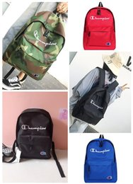 $enCountryForm.capitalKeyWord Australia - New Arrive Champions Nylon Backpack School Bag Fashion Korea Street Style Men Women Sport Backpacks Student Embroidered Shoulder Bags C3144