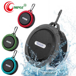 shower player Australia - C6 Outdoor Sports Shower Portable Waterproof Wireless Bluetooth Speaker Suction Cup Handsfree MIC Voice Box For iphone X 8 7 PC Phone