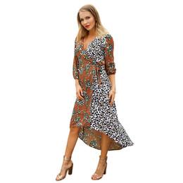 $enCountryForm.capitalKeyWord NZ - Suit-dress 2019 Spring Xia Xinkuan Will Code Length Of Front And Rear Seven Part Sleeve women mini club Dress fashions woman dresses models