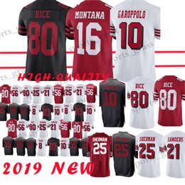 10 Jimmy Garoppolo San Francisco 49er jersey 16 Joe Montana 25 Richard  Sherman 69 Mike McGlinchey 80 Jerry Rice jerseys Top c0386a351