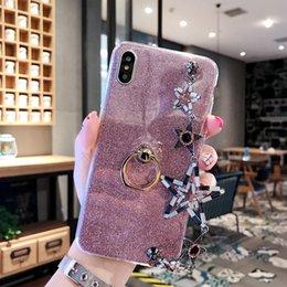 $enCountryForm.capitalKeyWord Australia - Luxury fashio Bling Star Diamond Gliter With Hand Chain Finger Ring Holder Phone Case Soft TPU Cover For iPhone X Xr Xs Max 8 7 6S Plus