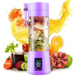 Mini processors online shopping - 380ml Portable Juicer Electric USB Rechargeable Smoothie Blender Machine Mixer Mini Juice Cup Maker fast Blenders food processor