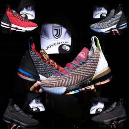 huge discount c4df1 d95c8 2019 hommes femmes enfants Lebrons 16 chaussures de basketball Lebron multi  couleur Sneaker 16s chaussures de sport pour hommes roi lbj James jeunes  garçons ...