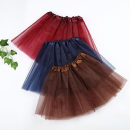 red white blue tutus Australia - 17 colors Girls Clothes candy color kids tutus skirt dance dresses soft tutu dress ballet skirt 3layers children pettiskirt clothes HNLY11