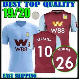 19 20 Aston Villa TERCEIROS CAMISAS de futebol 2019 2020 home Wesley GREALISH EL GHAZI HUTTON McGinn Kodja homens crianças camisas de futebol tailândia venda por atacado
