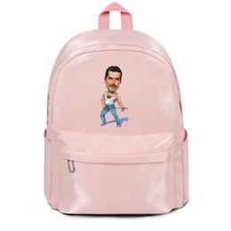 $enCountryForm.capitalKeyWord Australia - Freddie Mercury Painting by Art pink package,backpack,backpacks for girls travel package cool backpack printing Durable package Sports backp