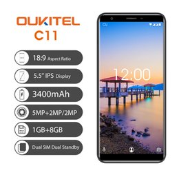 Google Touch Screen Australia - Cheap 3G WCDMA OUKITEL C11 1GB 8GB Quad Core MTK6580A Android 8.1 5.5 inch 18:9 Full Screen GPS WiFi 5.0MP+2.0MP Dual Rear Camera Smartphone