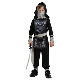 assassins costumes UK - Kids Skull Ninja Costumes Halloween Party Boys Girls Warrior Stealth Children Cosplay Assassin Costume Children's Day Gifts