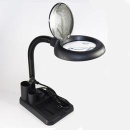 $enCountryForm.capitalKeyWord NZ - 220V Adjustable 36 LED Desk Magnifier Lamp Light 5X 10X Magnifying Desktop Loupe Electronic maintenance Phone Repair Tools