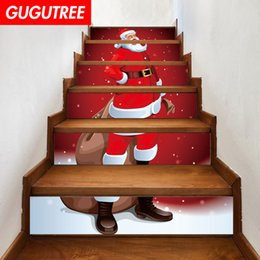 $enCountryForm.capitalKeyWord NZ - Decorate Home 3D Christmas cartoon art wall Stair sticker decoration Decals mural painting Removable Decor Wallpaper G-655