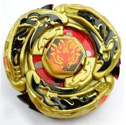 beyblade l drago fusion Canada - Wholesale- BEYBLADE 4D RAPIDITY METAL FUSION Beyblades Toy Set L-Drago Destructor (Destroy) Gold Armored Metal Fury 4D Beyblade
