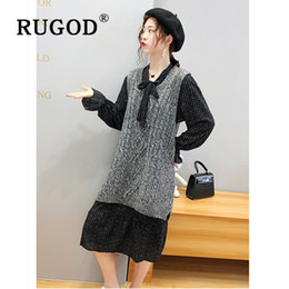 $enCountryForm.capitalKeyWord Australia - RUGOD Fashion plus size 3XL knitted sweater vest and the midi dress Korean solid twisted V neck pullovers sweater invierno 2019