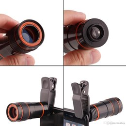 telephoto cameras Australia - 8X Zoom Telescope Lens Telephone Lens unniversal Optical Camera Telephoto phone len with clip for Iphone Samsung LG HTC Sony Smartphone