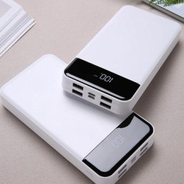 portable multi usb chargers 2019 - Data LCD White Cable Power ABS General Power 10000mah Bank DC5V 70 Charger USB Multi-function Portable 4 Emergency 2A ch