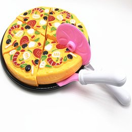 $enCountryForm.capitalKeyWord NZ - 9 Pcs Children Kids Kitchen Pizza Party Fast Slices Cutting Pretend Play Toy Set Kitchen Toys 2018 New