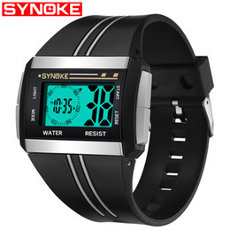unique electronics 2019 - SYNOKE Fashion Men's Watch LED Digital Men Wrist Watches Electronic Sport Male Clock Unique Relogio Masculino Erkek