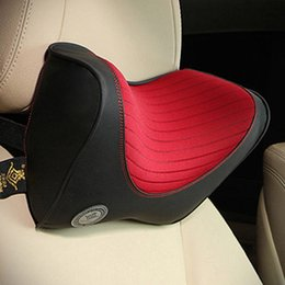 headrest cushions for car 2019 - Car Headrest Neck Pillow For Seat Chair In Auto Memory Foam Cotton Cushion Fabric Cover Soft Head Rest Travel Office Sup