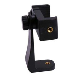 Wholesale 360 Degree Rotation Tripod Mount Holder Cell Phone Stand Bracket Clip Mount Bracket Adapter for Mobile Phones Smartphone