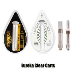 ScrewS atomizer online shopping - New Eureka Clear Carts G5 Screw Vape Cartridges ml ml Gram Tank Ceramic Coil Thick Oil Atomizer Vaporizer Flavor