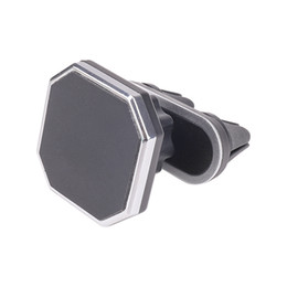 $enCountryForm.capitalKeyWord UK - Double Clamp Car Air Vent Magnetic Cell Phone Mount Holder for Car with 360 Degree Rotation