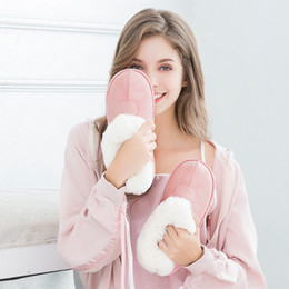 black sheep shoes 2019 - Women Winter Warm Ful Slippers Cotton Sheep Lovers Home Flip Flop Indoor Plush Size House Shoes Home Cotton Plush Slippe
