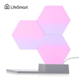 $enCountryForm.capitalKeyWord Australia - Lifesmart Quantum Light Geometry Assembly Night Ambient Lamp Smart App Remote Voice Control Diy Illuminations Q190611