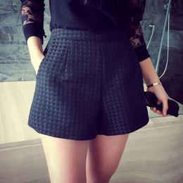 $enCountryForm.capitalKeyWord NZ - Fashion New Casual Dark Plaid Shorts High-waisted Korean Women Jeans Shorts Crochet Shorts X2 drop shipping