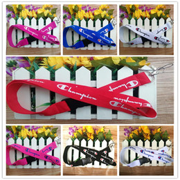 $enCountryForm.capitalKeyWord Australia - Champions Brand Letters Printed Lanyard Mobile Phone String Rope Strap Keychain Anti-lost Lanyards Camera ID Card Toy Bag Pendants A41605