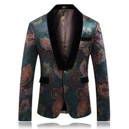 $enCountryForm.capitalKeyWord Australia - gentleman Flower coat Wedding party men dress jacket Slim design mens suits blazers Asia size S - 5XL men suit jacket