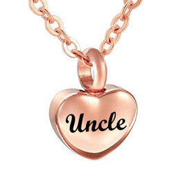 small pendants NZ - Simple Small rose gold Heart Cremation Urn Pendant for Ashes Memorial Keepsake Necklace 316L Stainless Steel Custom Name