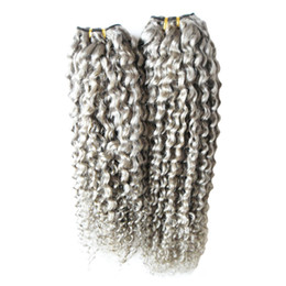$enCountryForm.capitalKeyWord UK - Brazilian Hair Weave Bundles 2pcs lot grey weave Human Hair Bundles 200g Virgin Hair Extension 2 PCS Shipping Free