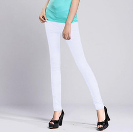 Wholesale womens white pants resale online - WOMENS SEXY SOLID STRETCH CANDY COLORED SLIM FIT SKINNY PANT TROUSERS Black white summer stretch thin pants