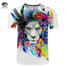 $enCountryForm.capitalKeyWord Australia - King of the Forest by Pixie cold Art 3D T shirts Men T-shirts Lion Printed Tshirts Summer Tops Tees Plus 6XL Camiseta Brand
