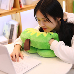 $enCountryForm.capitalKeyWord Australia - Fashion fruit pillow Cute cartoon fruit nap pillow plush toys Office nap essential Stuffed Watermelon kiwi strawberry Cactus
